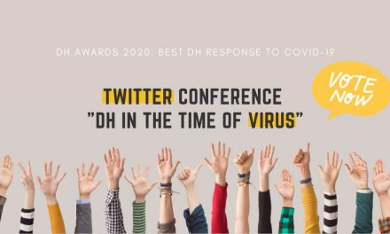 "Το Twitter Conference ""DH in the Time of Virus"" υποψήφιο για τα DH Awards 2020!"