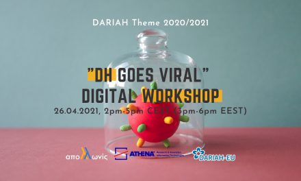 """DH goes Viral"" Digital Workshop, 26.04.2021"